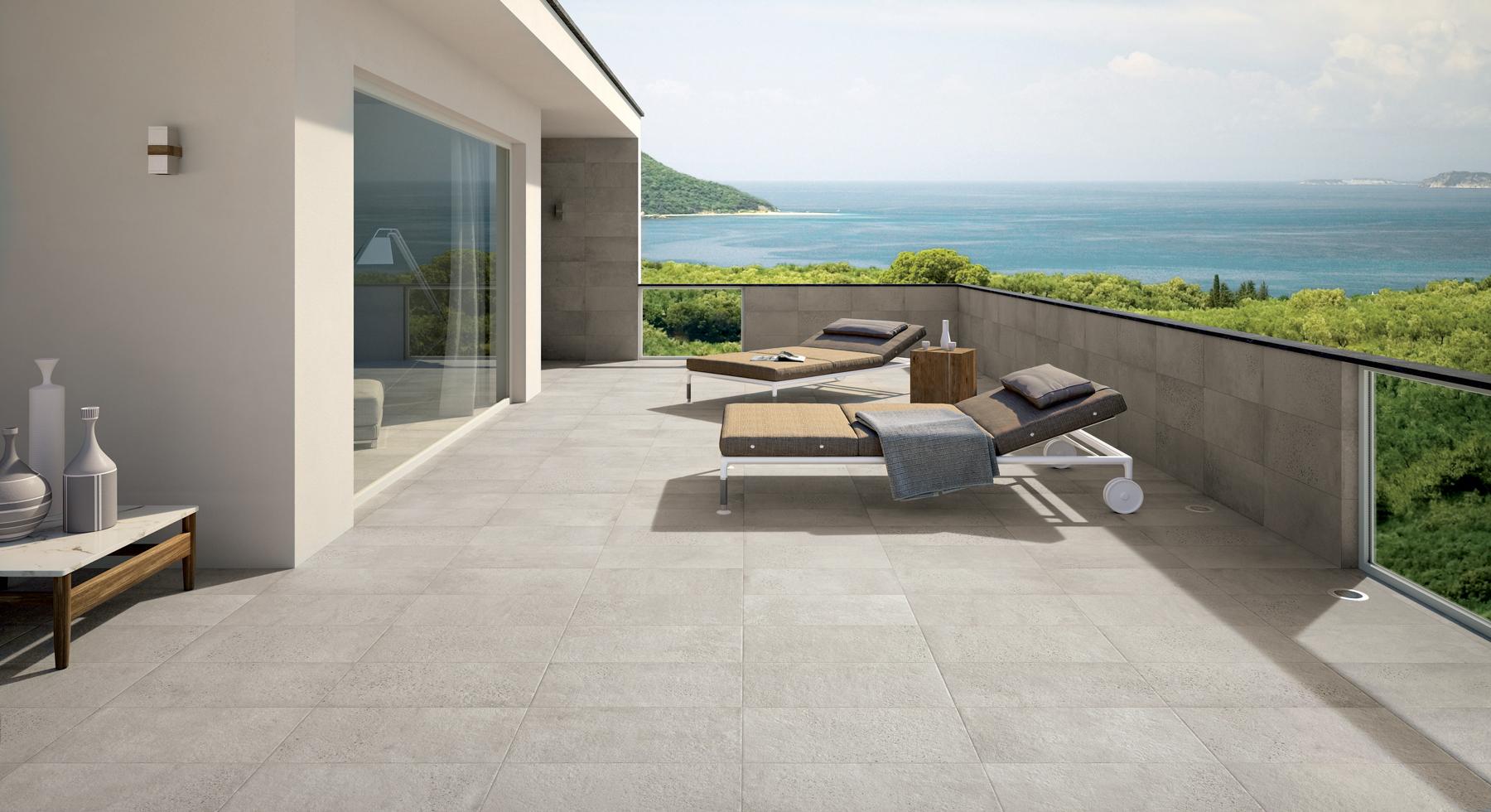 Photo terrasse carrelage gris autres vues autres vues for Carrelage terrasse gris