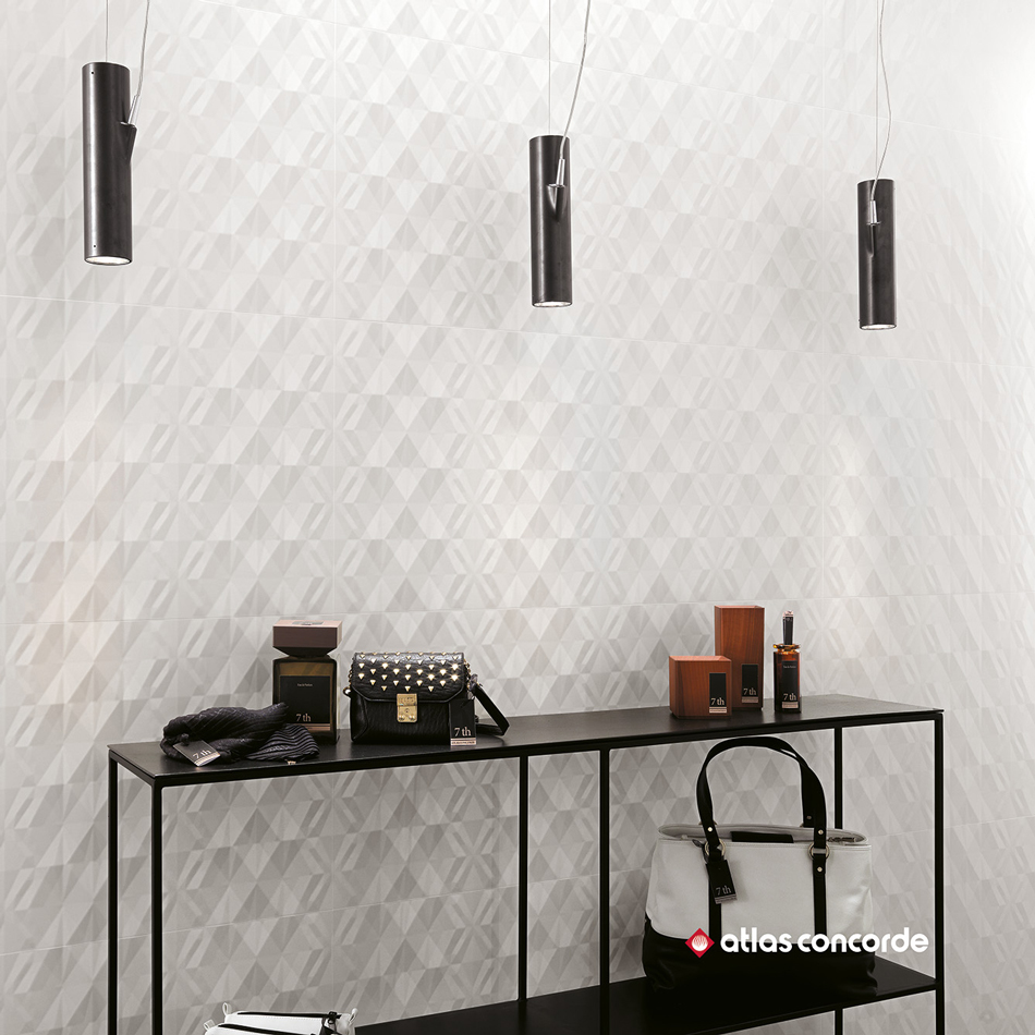 carrelage blanc 3d wall ribbon white astro habitat. Black Bedroom Furniture Sets. Home Design Ideas